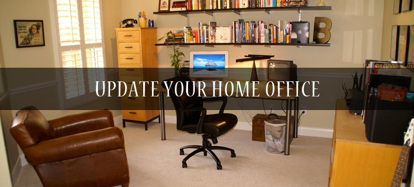 Update your home office in budget with some easy tips